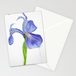 Purple Iris Flower Stationery Cards