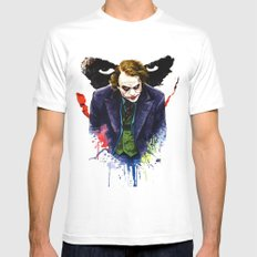 Angel Of Chaos (The Joker) MEDIUM White Mens Fitted Tee