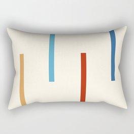 Abstract Minimal Retro Stripes Jivamukti Rectangular Pillow
