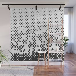 Black and white halftone Wall Mural