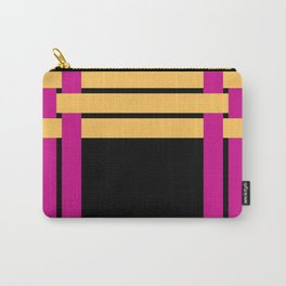 The intertwining pink and yellow ribbons Carry-All Pouch