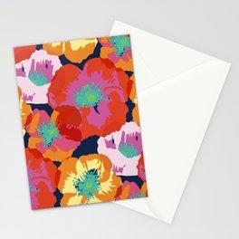 Big Poppies - orange red Stationery Cards