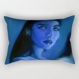 Blue Morphos Rectangular Pillow