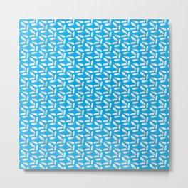 myriad of diamonds pattern in blue Metal Print