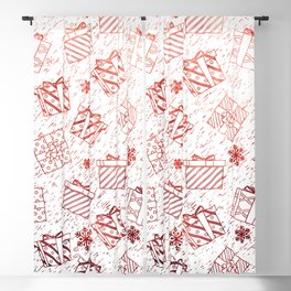 Christmas gifts pattern 15 Blackout Curtain