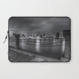 Norfolk Skyline II in Black and White Laptop Sleeve