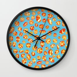 Gemstone Field Wall Clock