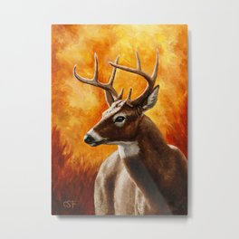 Whitetail Deer Buck Metal Print