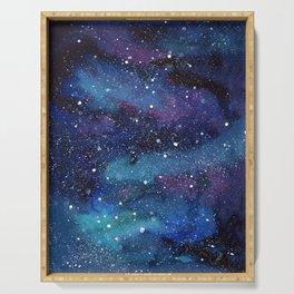 Galaxy Space Painting Stars Cosmic Universe Nebula Art Serving Tray