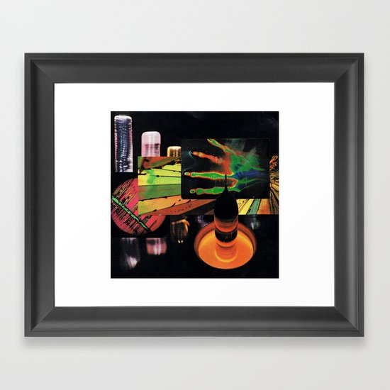 sci-fi beach Framed Art Print