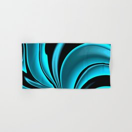Abstract Fractal Colorways 02 Pacific Blue Hand & Bath Towel
