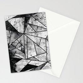 Modern Black and White Geometric Stone Stationery Cards