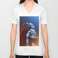 knight V-neck T-shirts featuring Knight by TuncayVural