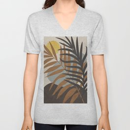 Abstract Tropical Art IV Unisex V-Neck