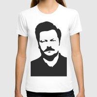 ron swanson T-shirts featuring Ron Swanson by Bjarni Bragason
