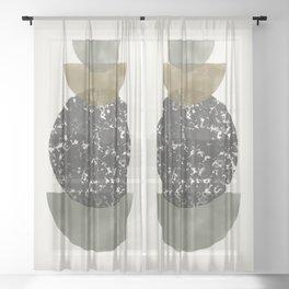 Modern Shapes Sheer Curtain