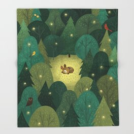 Enchanted Forest Baby Fawn Throw Blanket