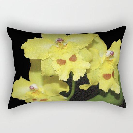 Glorious Golden Orchid - Odontonia Yellow Parade Alpine Rectangular Pillow