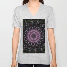 Rose And Jade Geometric Fantasy Mandala Pattern Unisex V-Neck
