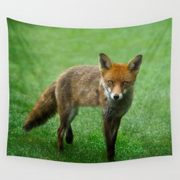 Wild Red Fox Wall Tapestry