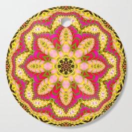 Sweet Happiness Floral Mandala Cutting Board