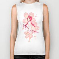sakura Biker Tanks featuring Sakura by Freeminds