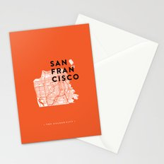 San Francisco Map 04 Stationery Cards