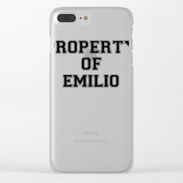 Property of EMILIO Clear iPhone Case