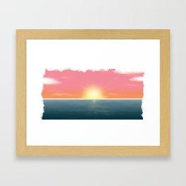 Peaceful Current Framed Art Print