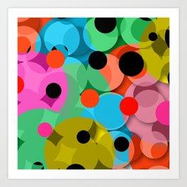 dots over dots Art Print