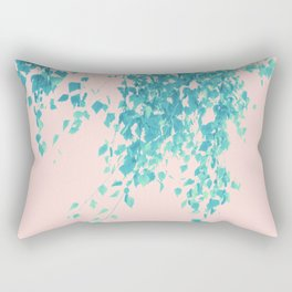 Turquoise Blush Leaves Delight #1 #tropical #decor #art #society6 Rectangular Pillow