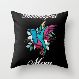 Hummingbird Mom Throw Pillow