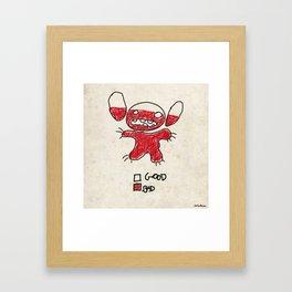 Stitch good&bad meter.... Framed Art Print