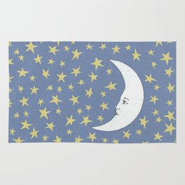 To the Mooon to the Starrs Rug