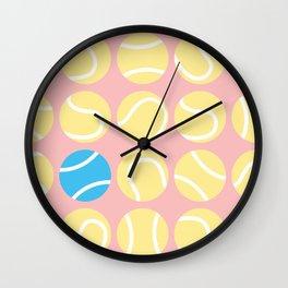 A Blue Tennis Ball in the Rough Wall Clock