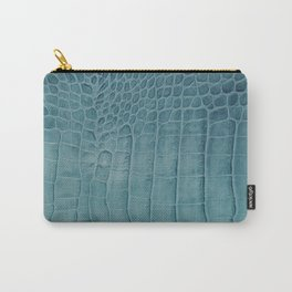 Croco leather effect - Aqua blue Carry-All Pouch