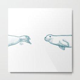 Seal Love Metal Print