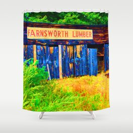 Farnsworth Lumber Yard Shower Curtain