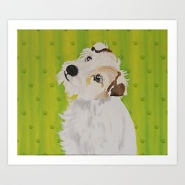 Little Dog Maja Art Print