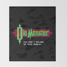 Castlevania - Die Monster. You Don't Belong In This World! Throw Blanket