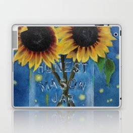Lightning Bugs and Sunflowers Laptop & iPad Skin