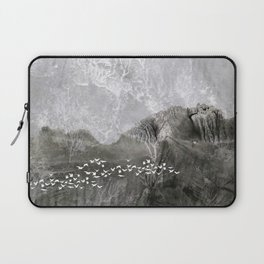 A cloud of white birds Laptop Sleeve