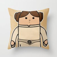 leia Throw Pillows featuring Leia by thejrowe