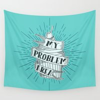 cupcake Wall Tapestries featuring CUPCAKE PROBLEM by Matthew Taylor Wilson