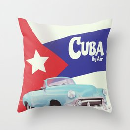 Cuba by Air Throw Pillow