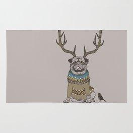 Deer Pug Rug