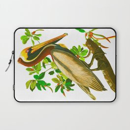 Brown Pelican Vintage Illustration Laptop Sleeve