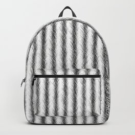 Silver and Black Faux Fox Fur Design Backpack