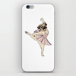 Dog Ballerina Tutu - Pug iPhone Skin