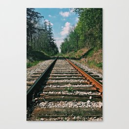 On the railroad to nature Canvas Print